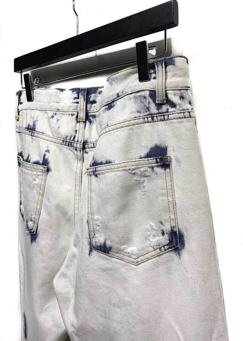 Gucci Bleached Distressed Cropped Denim