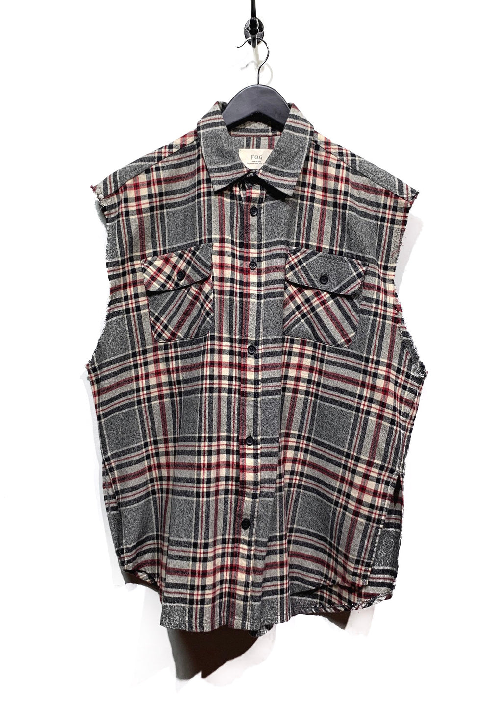 Fear Of God Collection One Flannel Sleeveless Shirt
