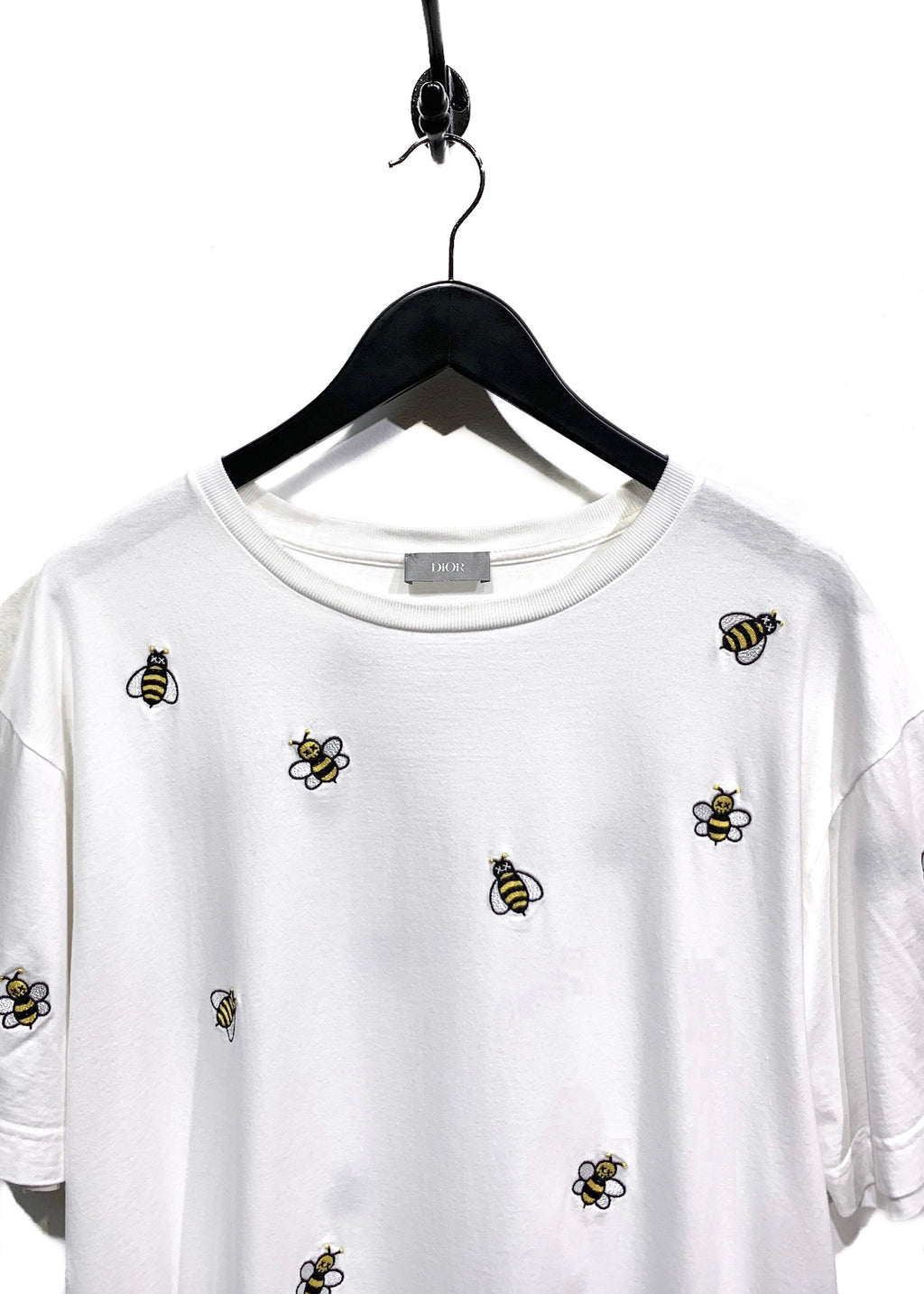 Dior X Kaws White Bee Embroidered T-Shirt