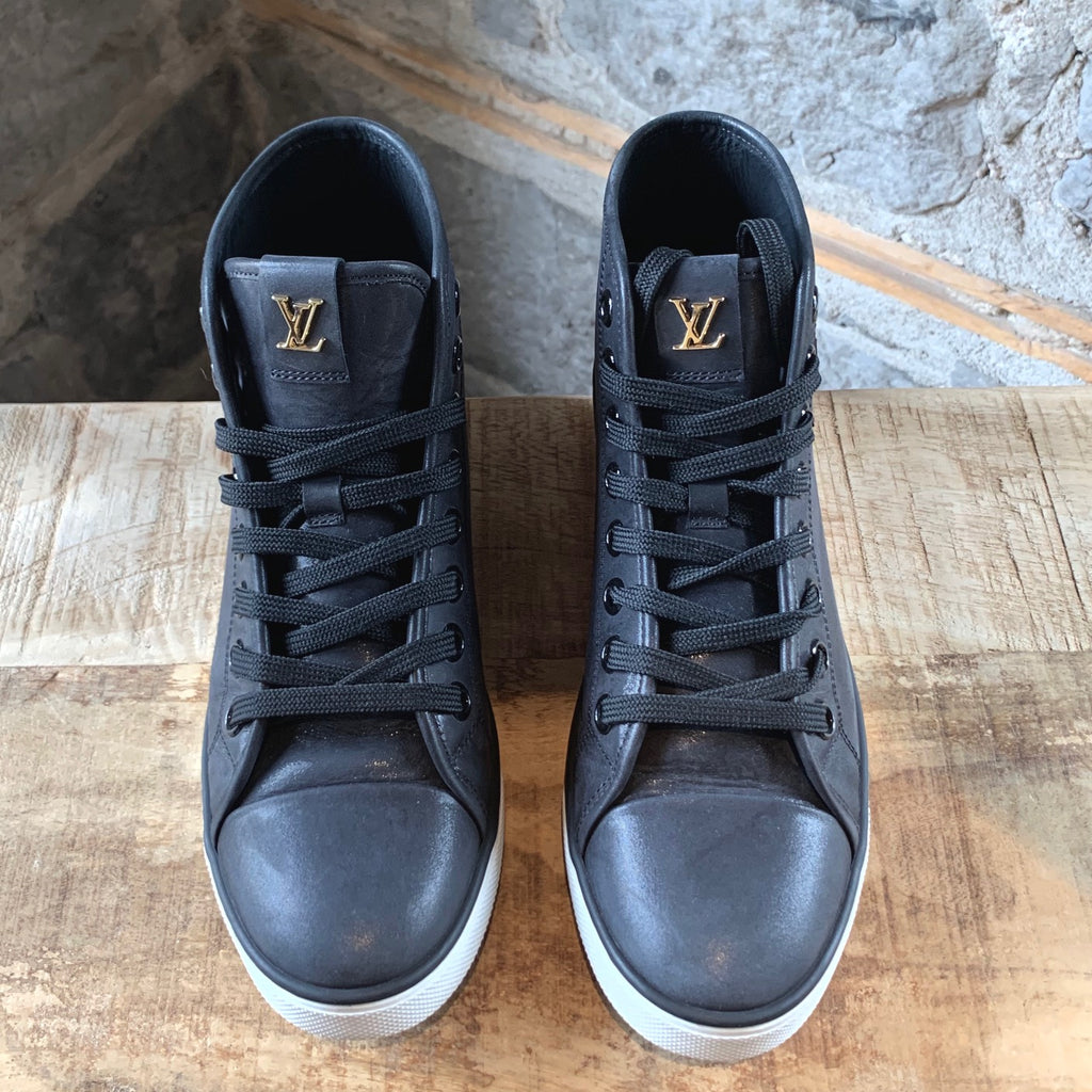 Louis Vuitton Black Punchy Love High-top Sneakers