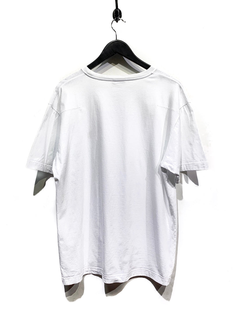 Dior White Gold Logo Embroidered T-Shirt