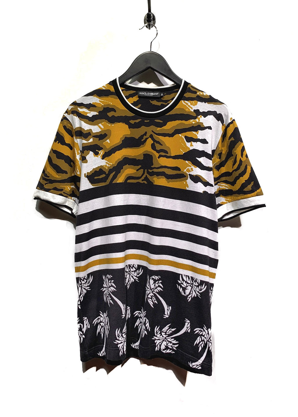 Dolce & Gabbana Brown Multi Patterns T-Shirt