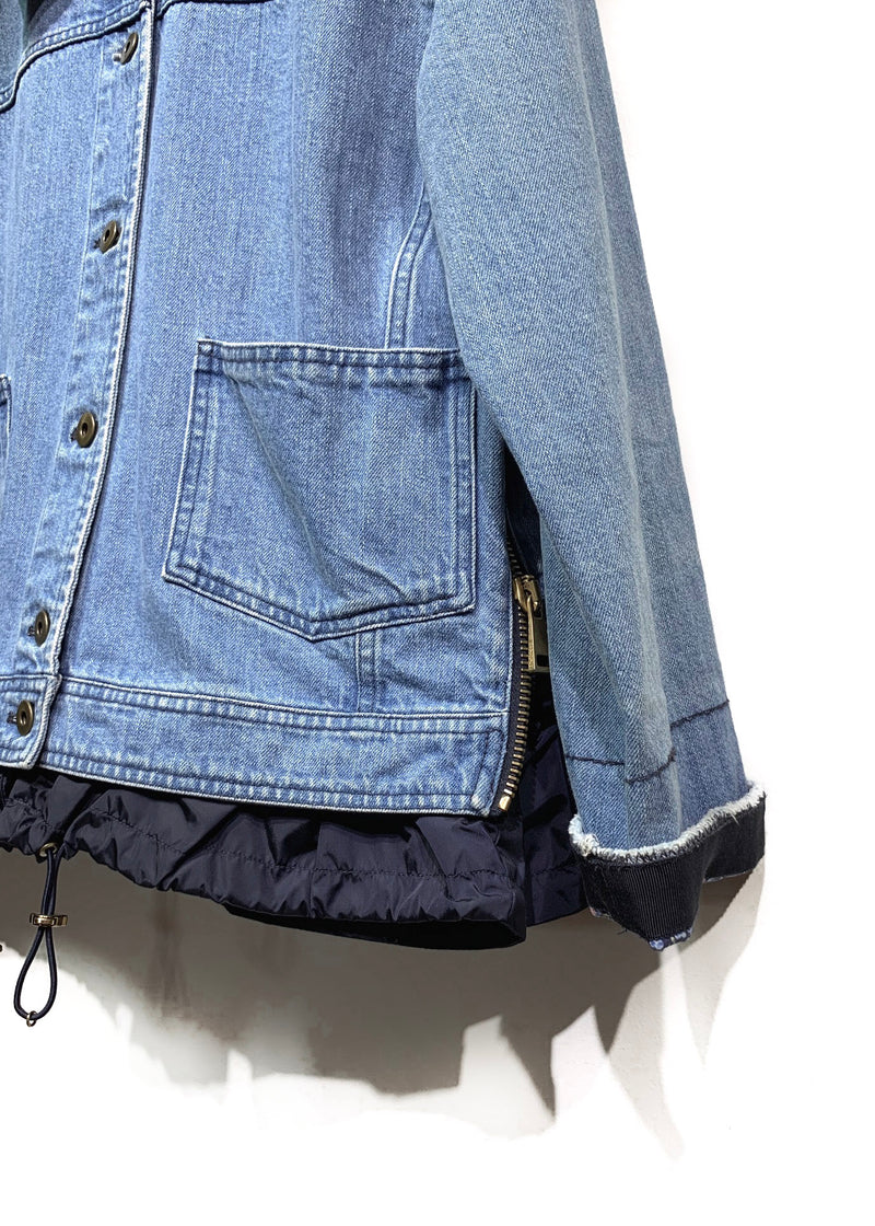 Moncler Denim Joubarde Windbreaker Jacket