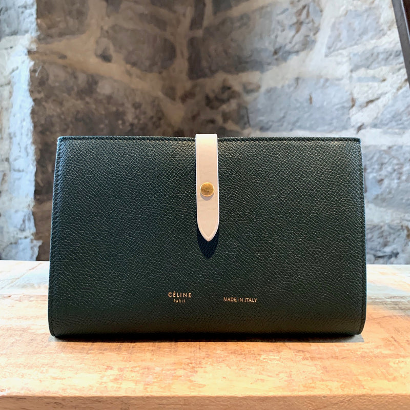 Céline Amazone Green Large Multifonction Wallet