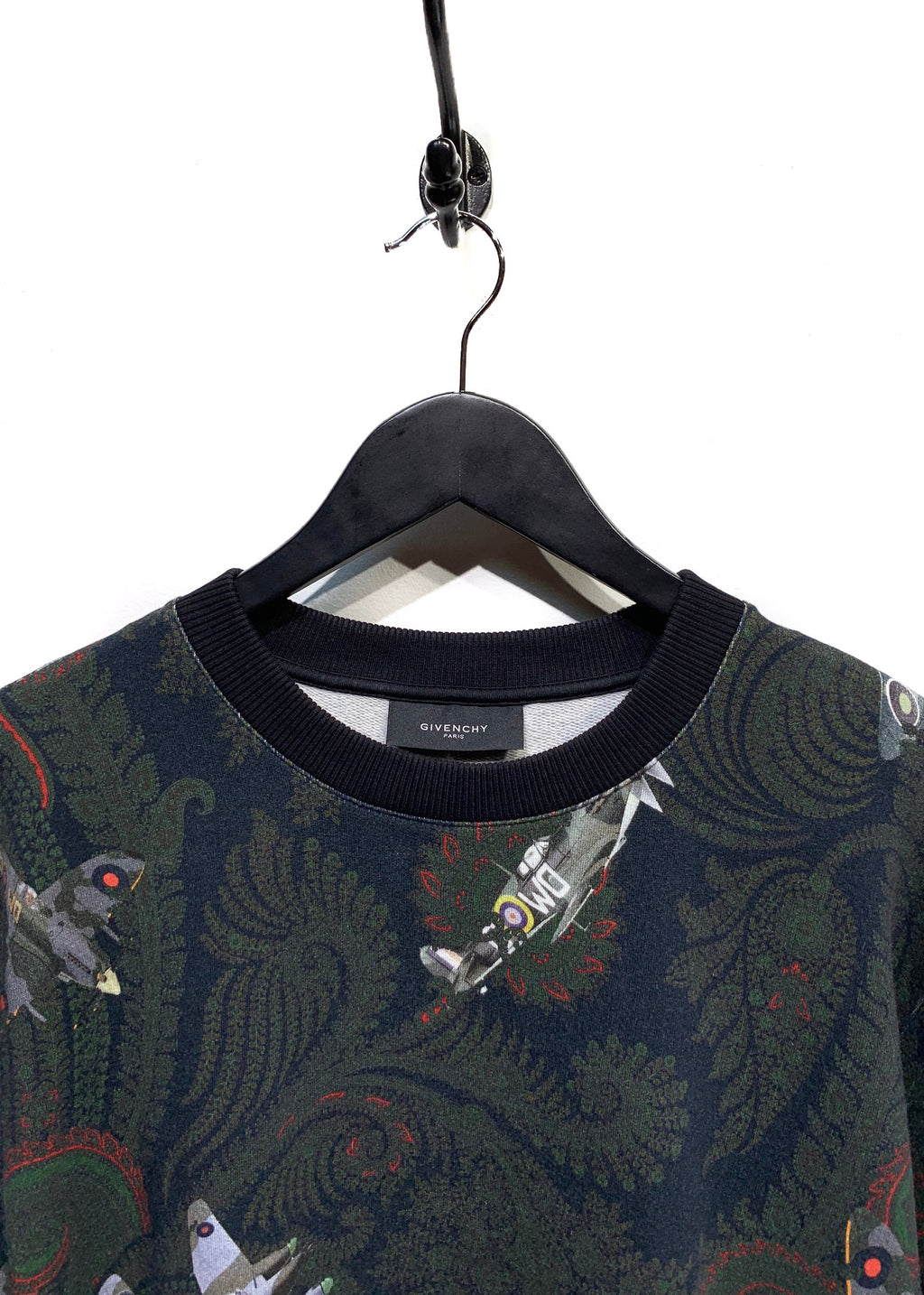 Givenchy Paisley And Planes Green Printed Sweatshirt