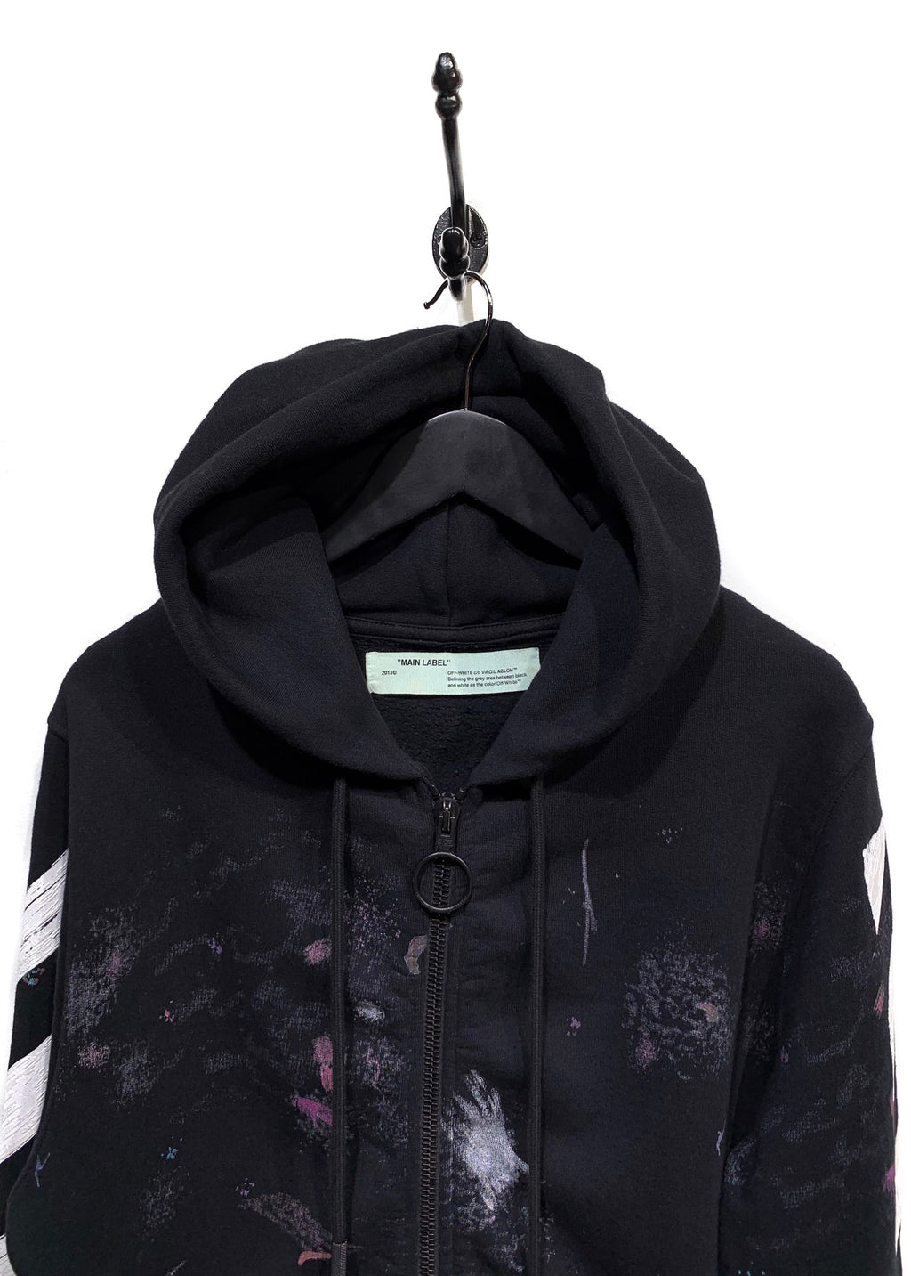 Off-White Galaxy Arrow Printed Zip-up Hoodie