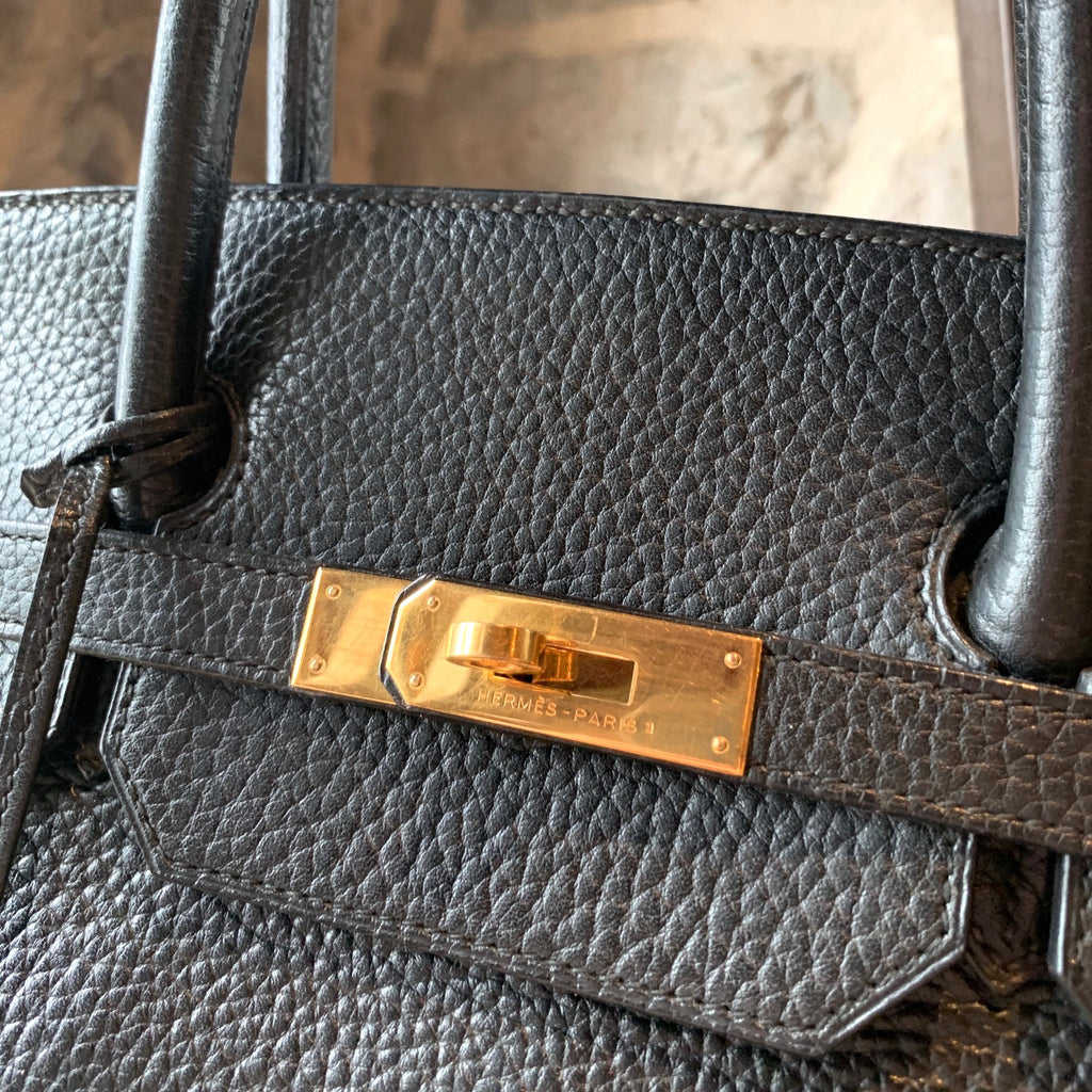 Hermès Black Togo Leather GHW 40 Birkin Handbag