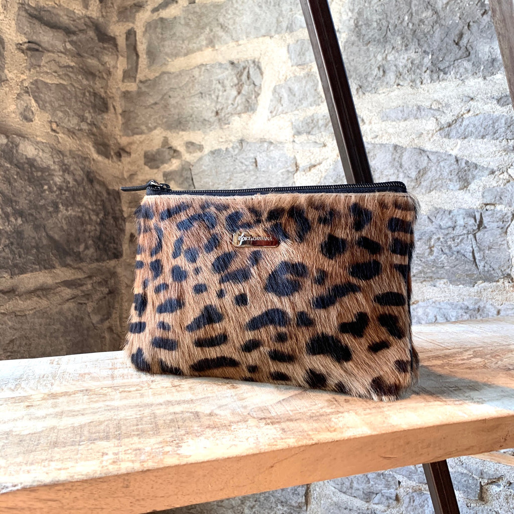 Dolce & Gabbana Leopard Pony Hair Small Pouch Bag
