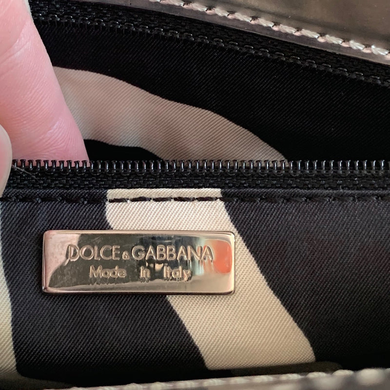Dolce & Gabbana Silver Metallic Shoulder Bag