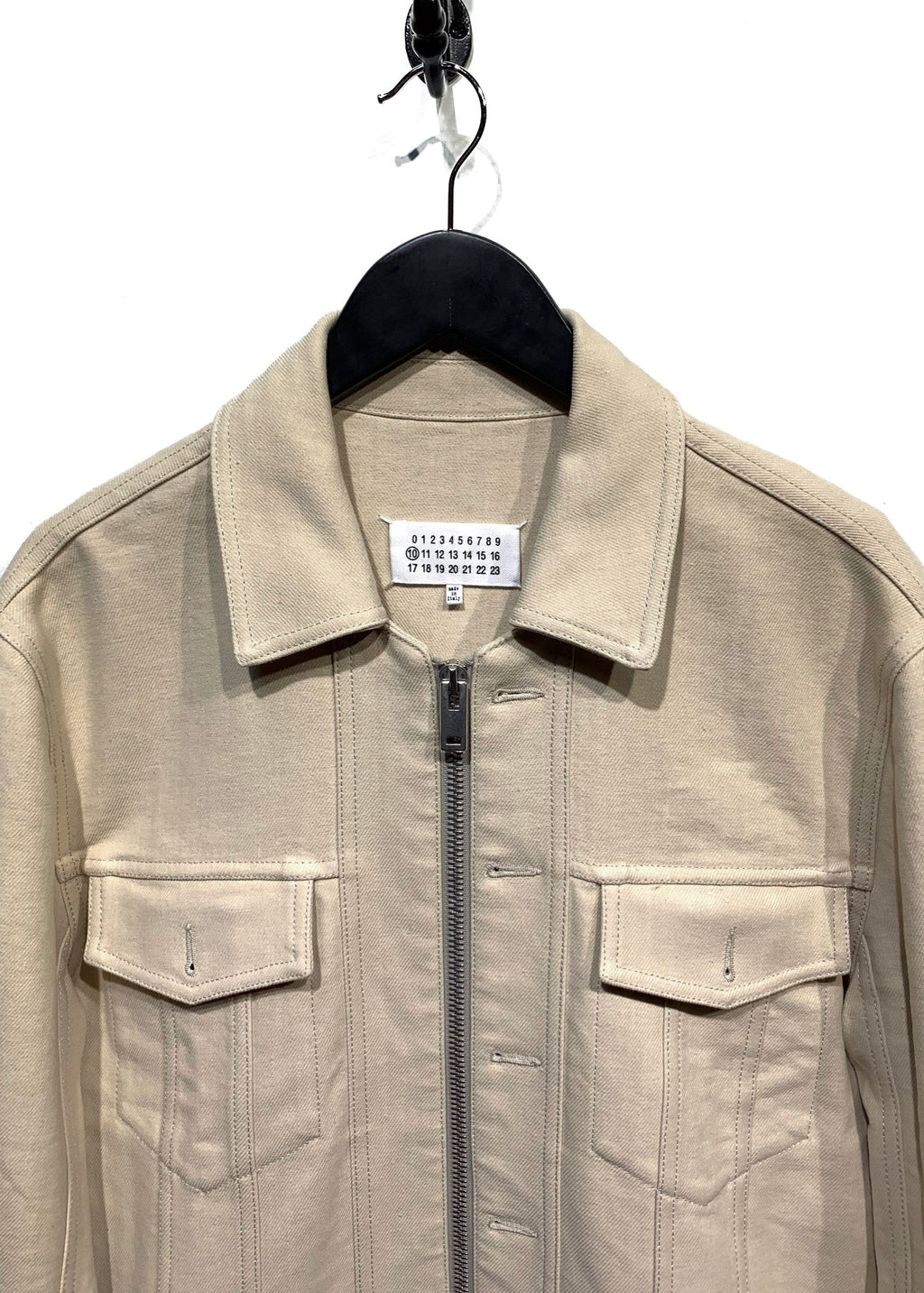 Maison Margiela Beige Cotton Blend Trucker Denim Jacket