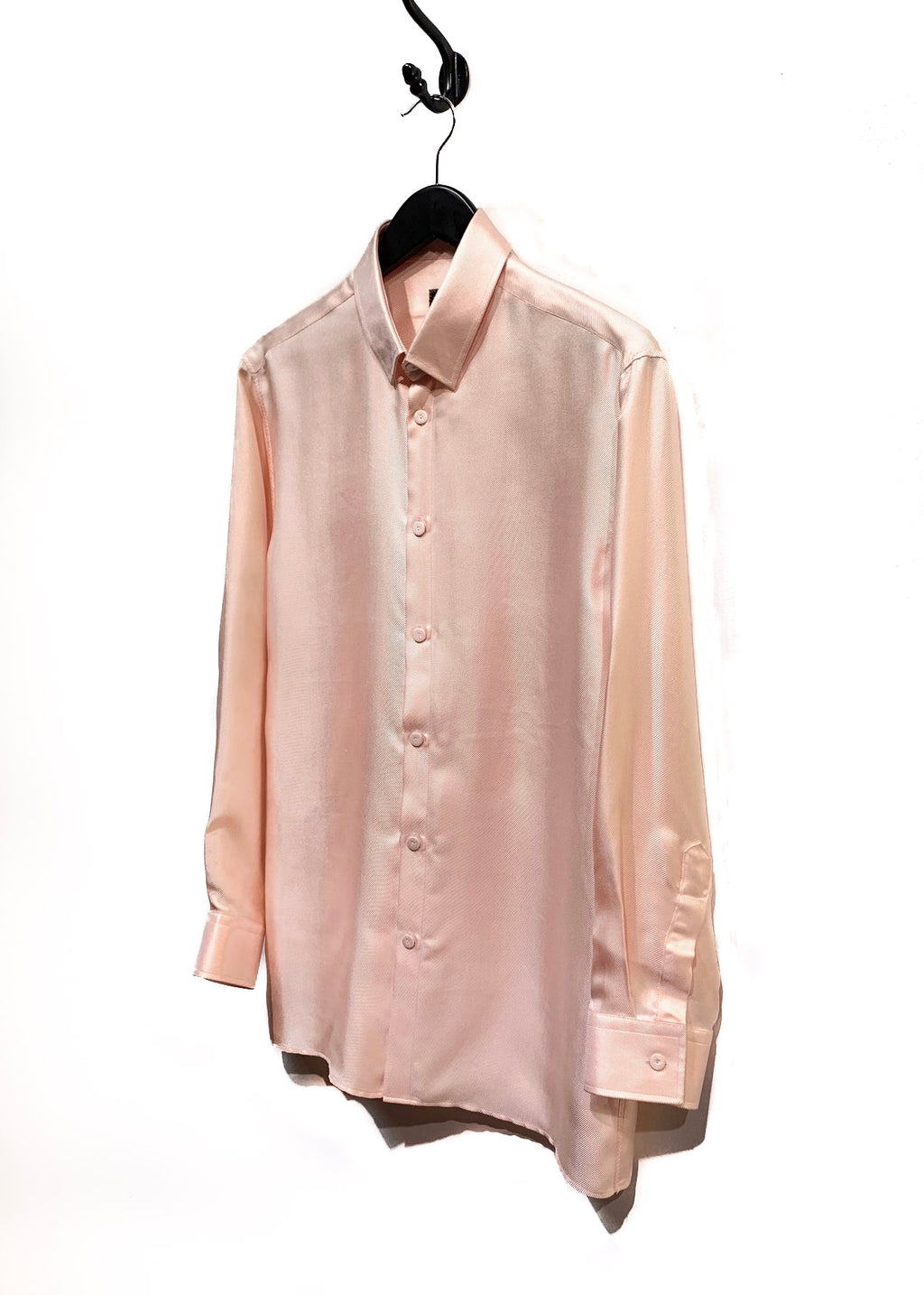 Jean Paul Gaultier Monsieur Light Peach Silk Buttoned Shirt