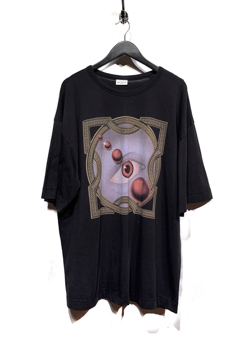 Dries Van Noten Black Graphic Eye Oversized T-Shirt