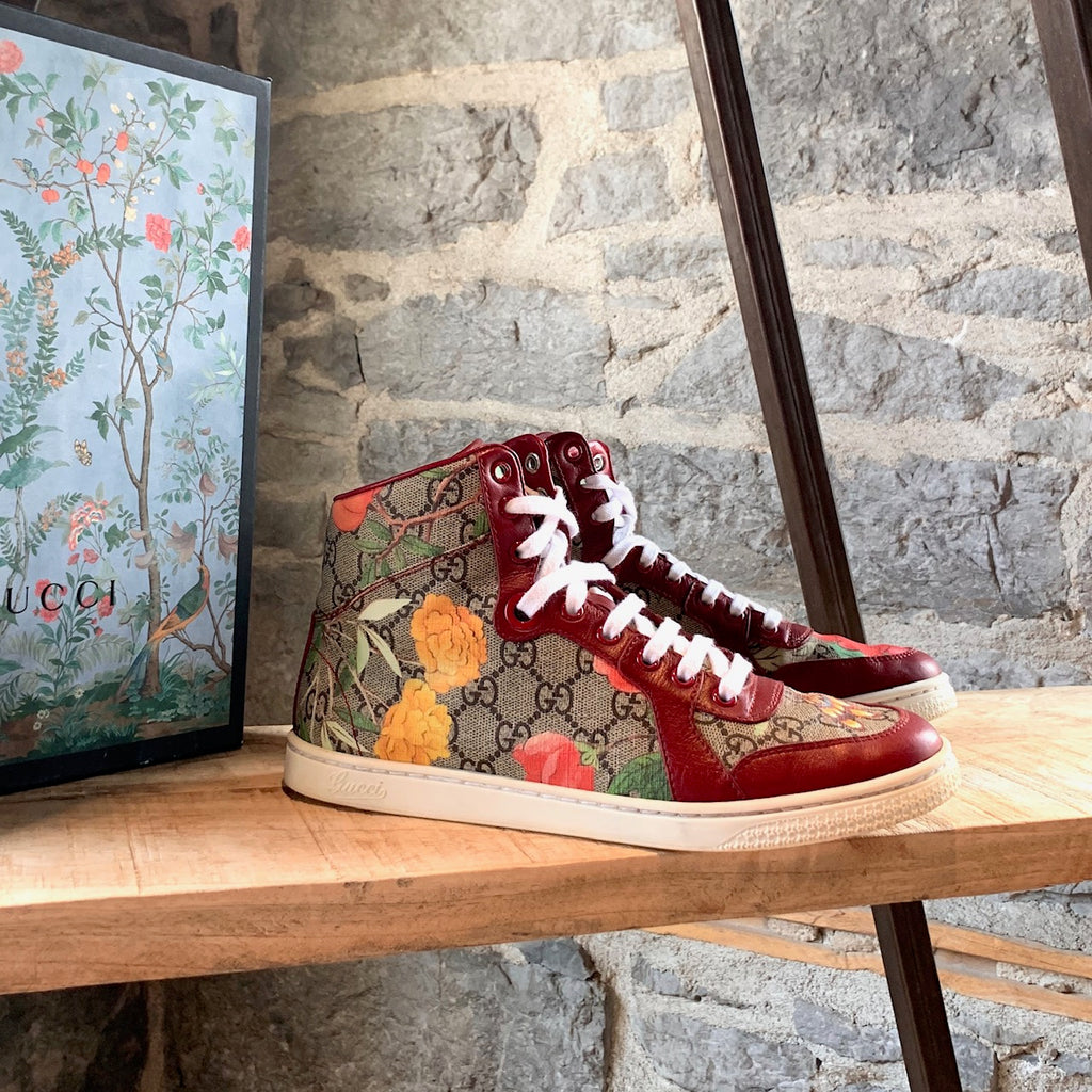 Gucci Red Tian 2017 High-top Sneakers