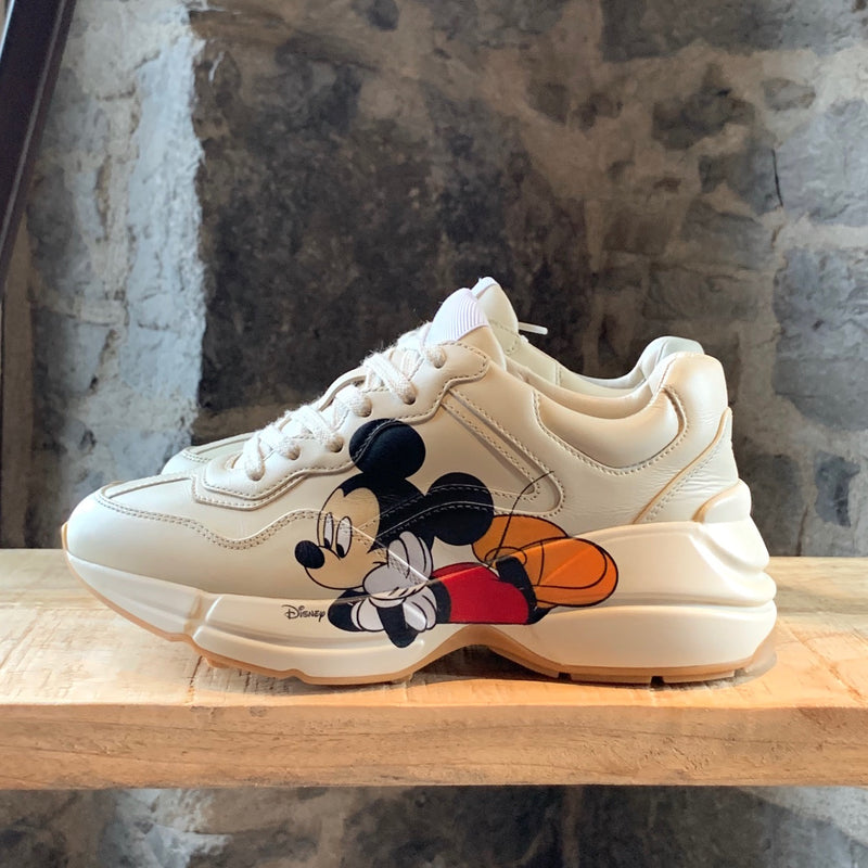 Gucci Ivory Mickey Mouse Disney Rhyton Sneakers