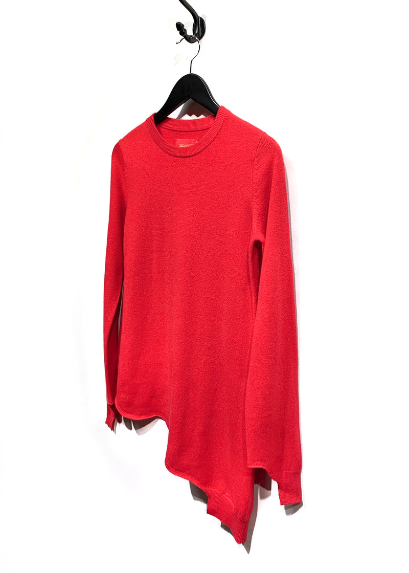 Zadig & Voltaire Poppy Red Angel Asymetric Cashmere Sweater