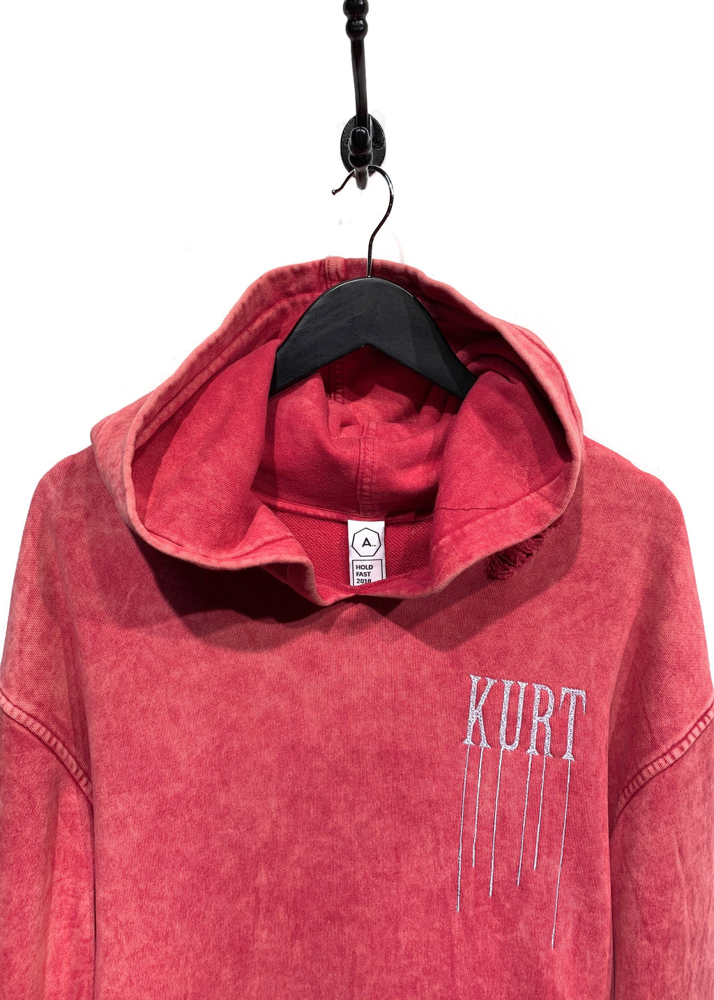 "Alchemist Hold Fast 2018 Pink ""Kurt"" Embroidered Printed Destroyed Hoodie"