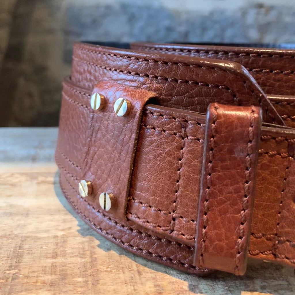 Burberry Brown Leather Waist Belt