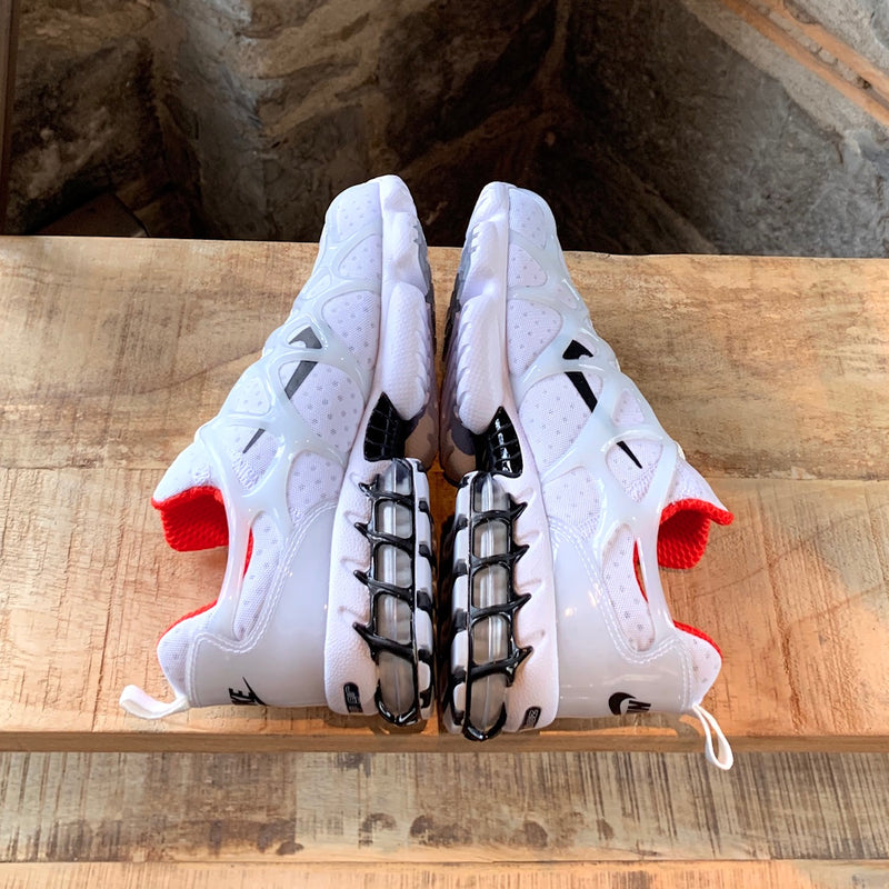 Nike X Stussy Air Zoom Spiridon White Red Caged Sneakers