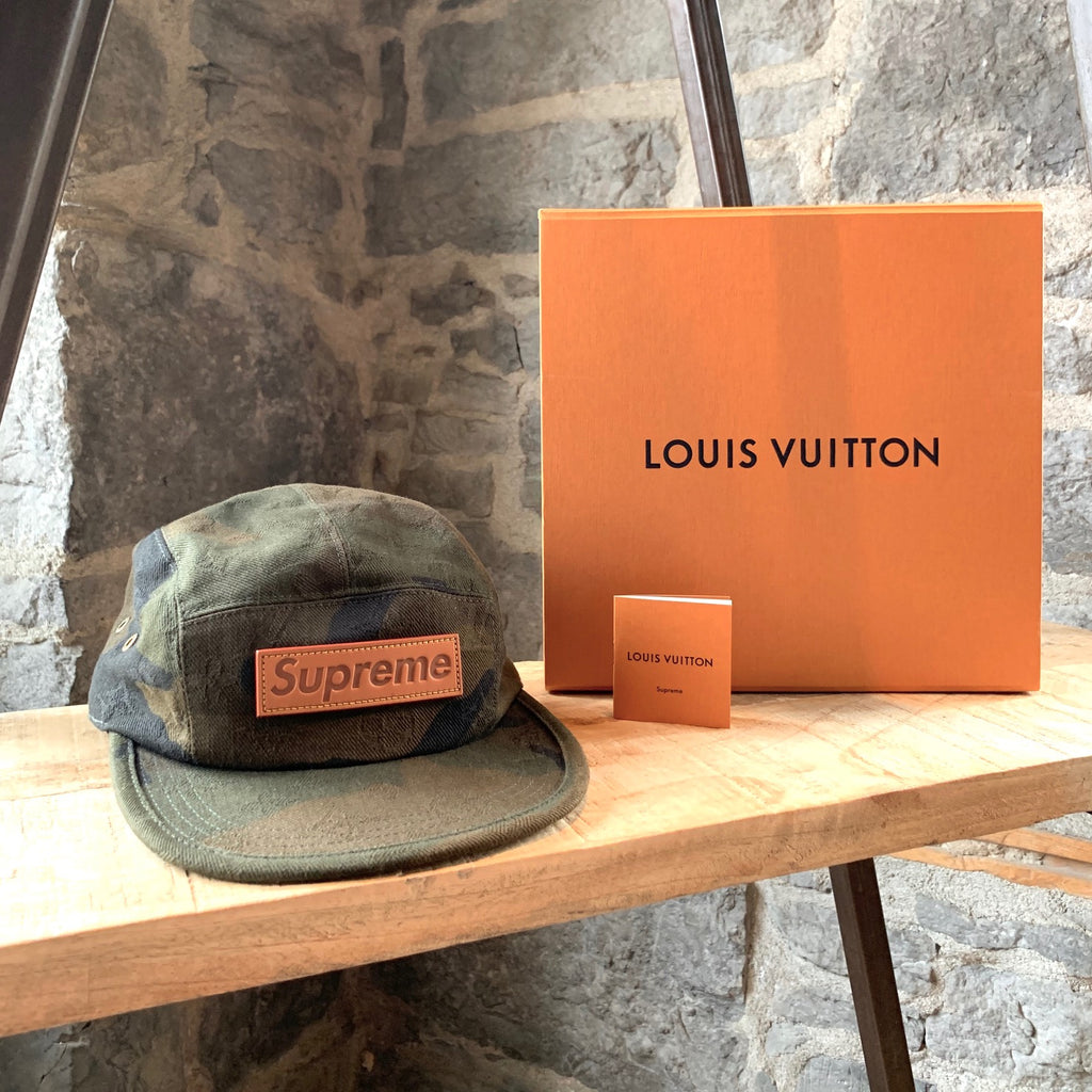 Louis Vuitton X Supreme 2017 Camo Camp Cap