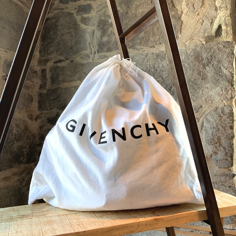 Givenchy White Patent Oversized Nightingale Tote