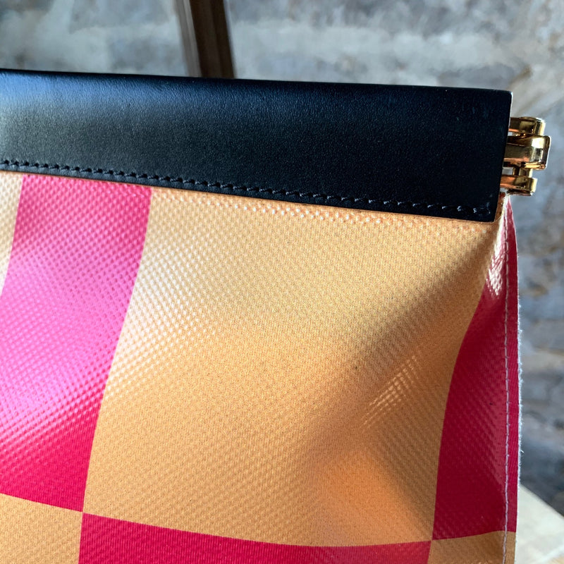 Marni Contrat-Prints Oversized Pouch
