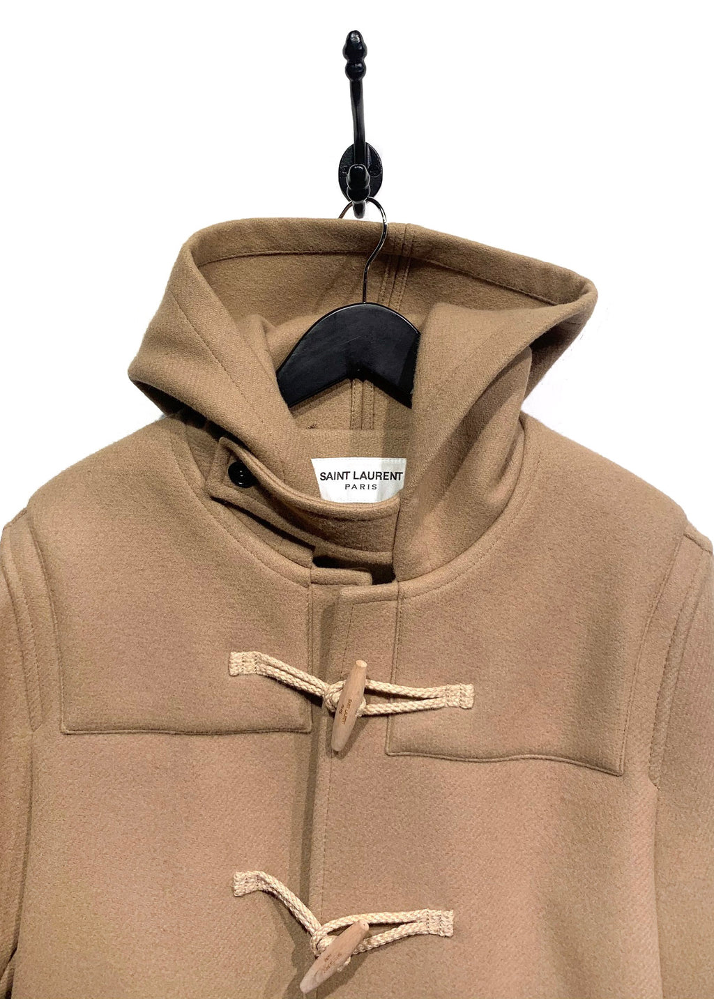 Saint Laurent Camel Toggle Closure Duffle Coat