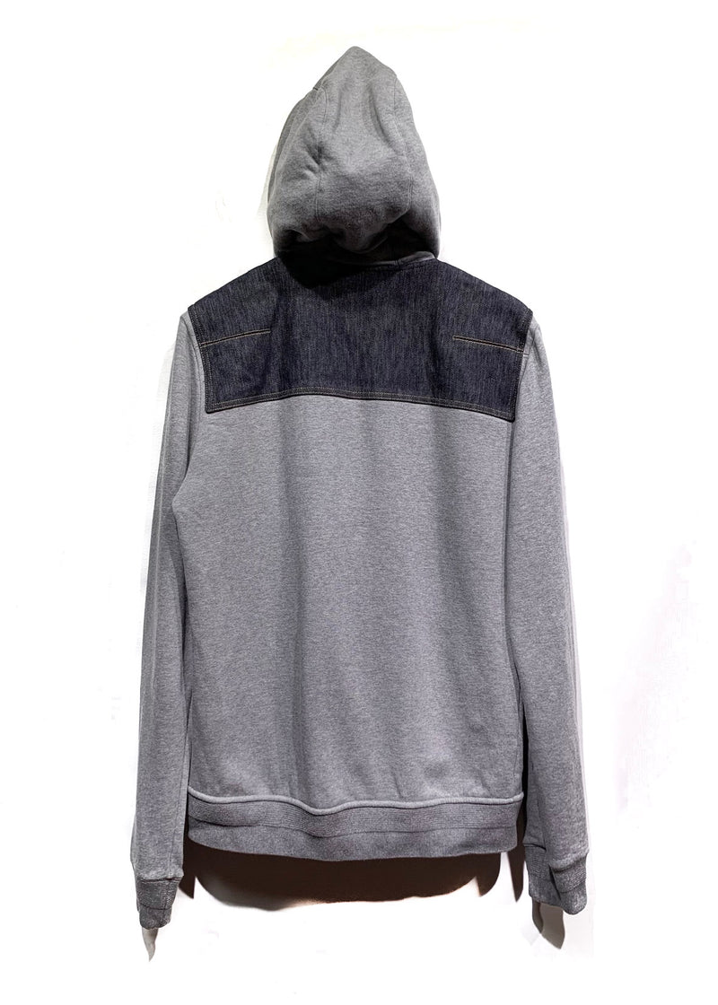Dior Homme Denim Accent Grey Zip-up Hoodie