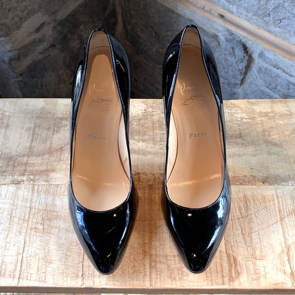 Christian Louboutin Black Decolleté 868 110mm Patent Heels