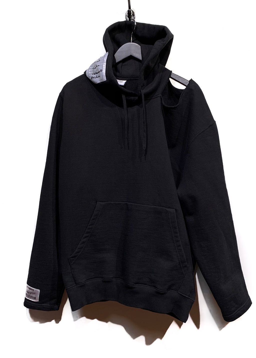 Vêtements Black Cut-out Oversized Hoodie