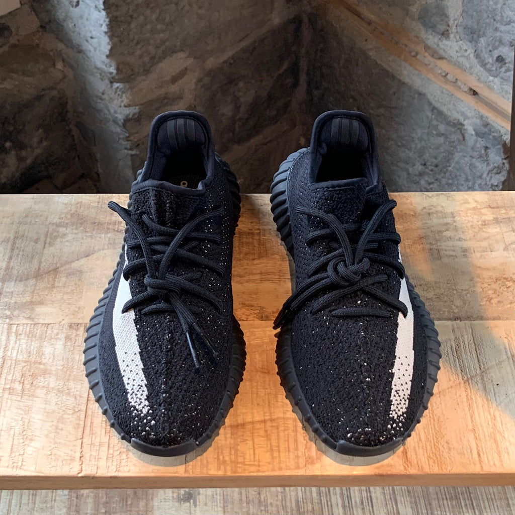 Adidas Yeezy Boost 350 V2 Core Black White Stripe Sneakers