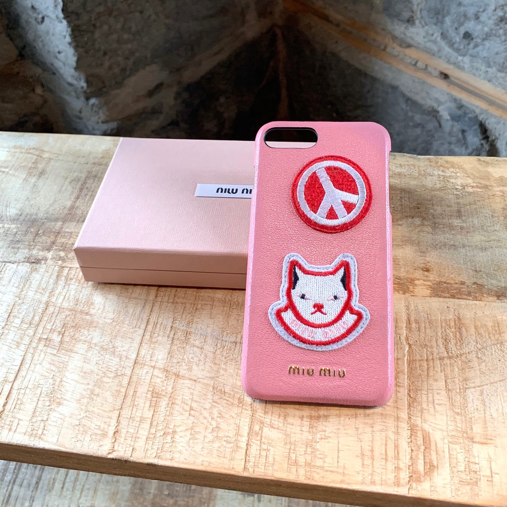Miu Miu Pink Kitty Peace iPhone 7-8 + Case
