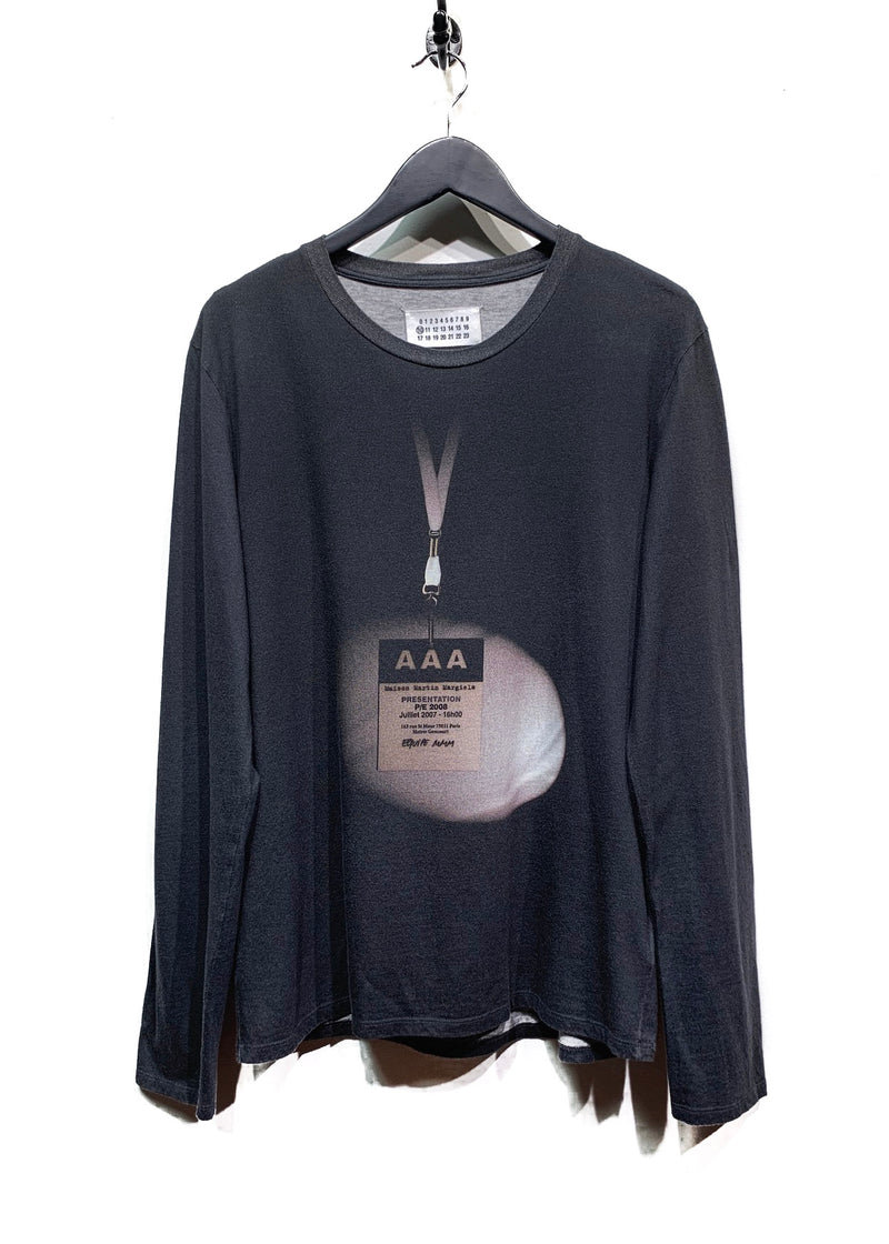 Maison Margiela PE 2008 Fashion Show Print Long Sleeves Tee