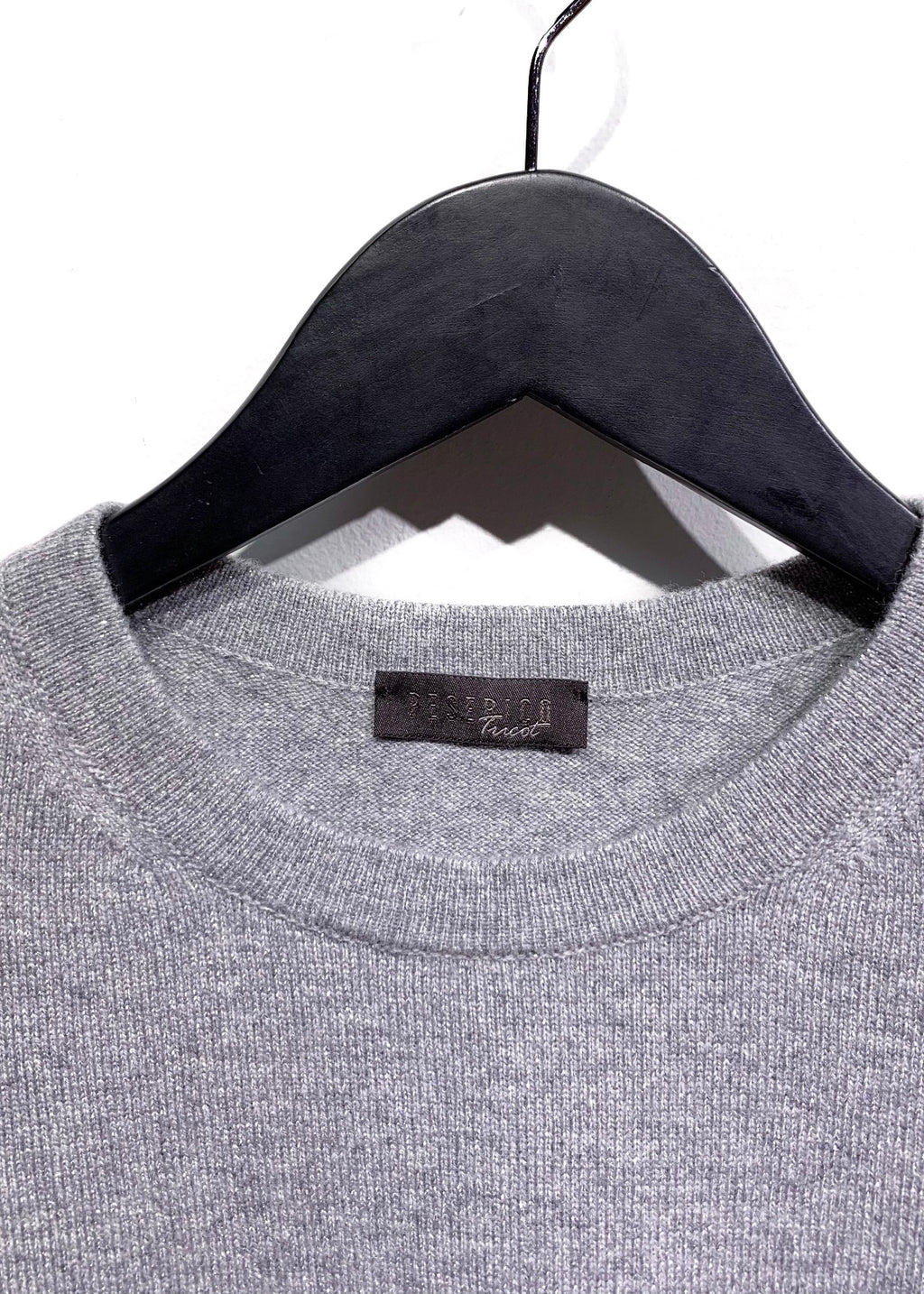 Peserico Tricot Grey Silver Lurex Wool Blend Sweater