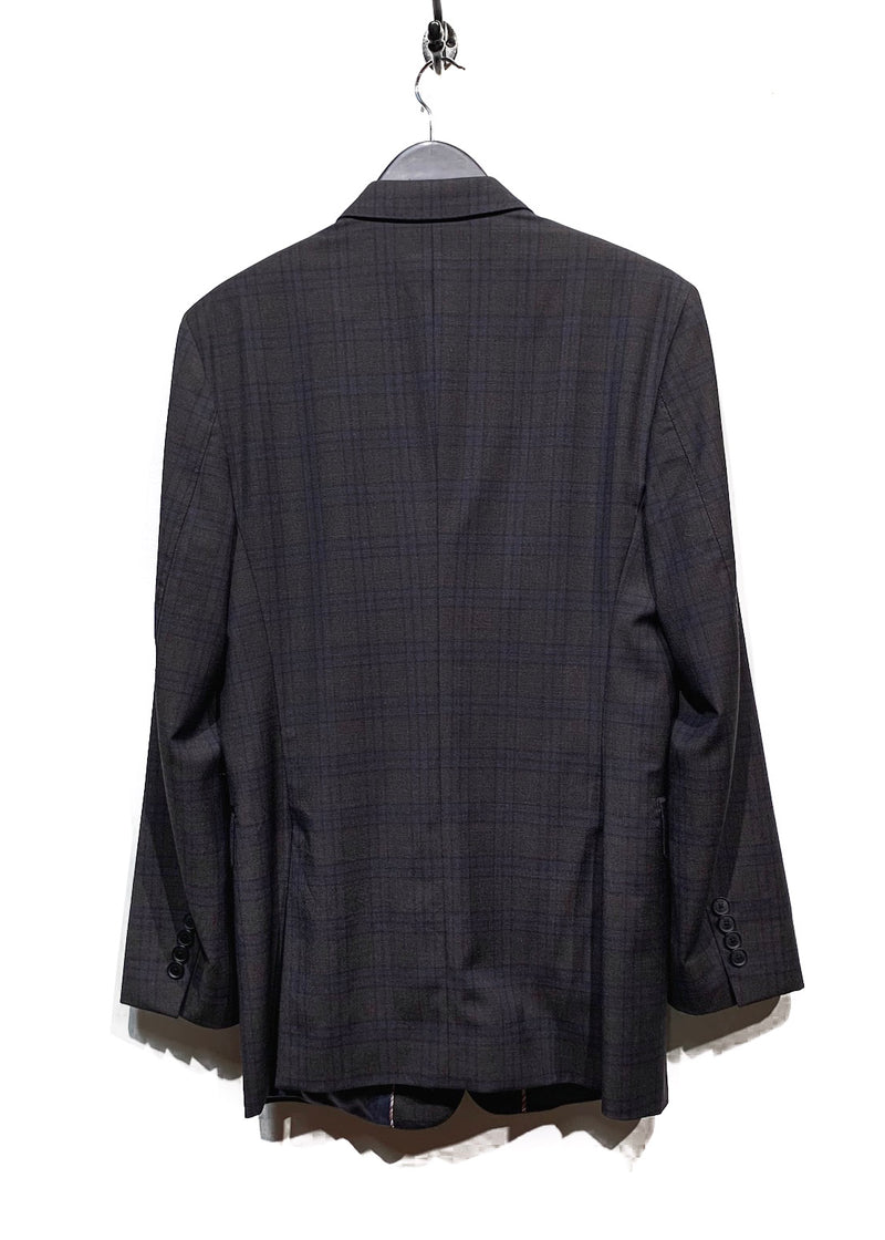 Paul Smith London The Byard Charcoal Brown Blue Checkered Suit