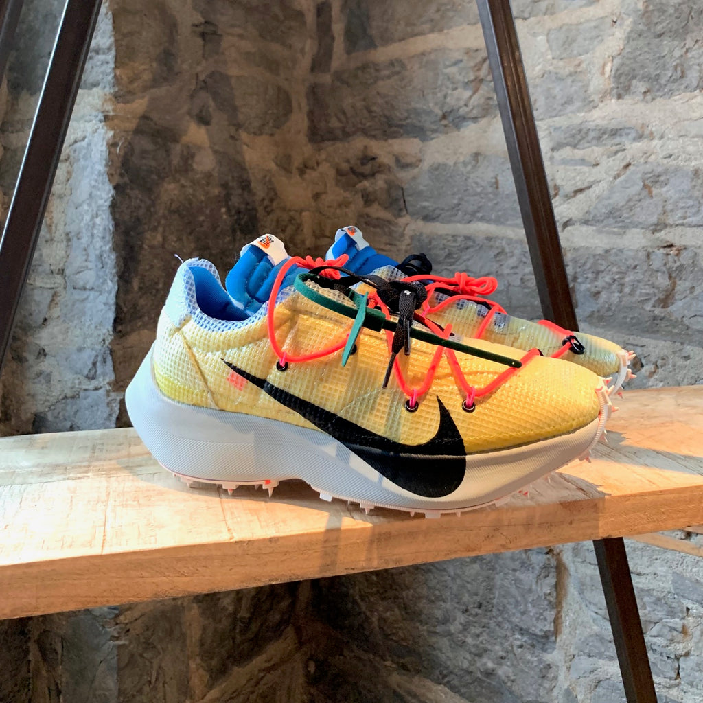Off-White X Nike Vapor Street Tour Yellow Black Light Bone Sneakers