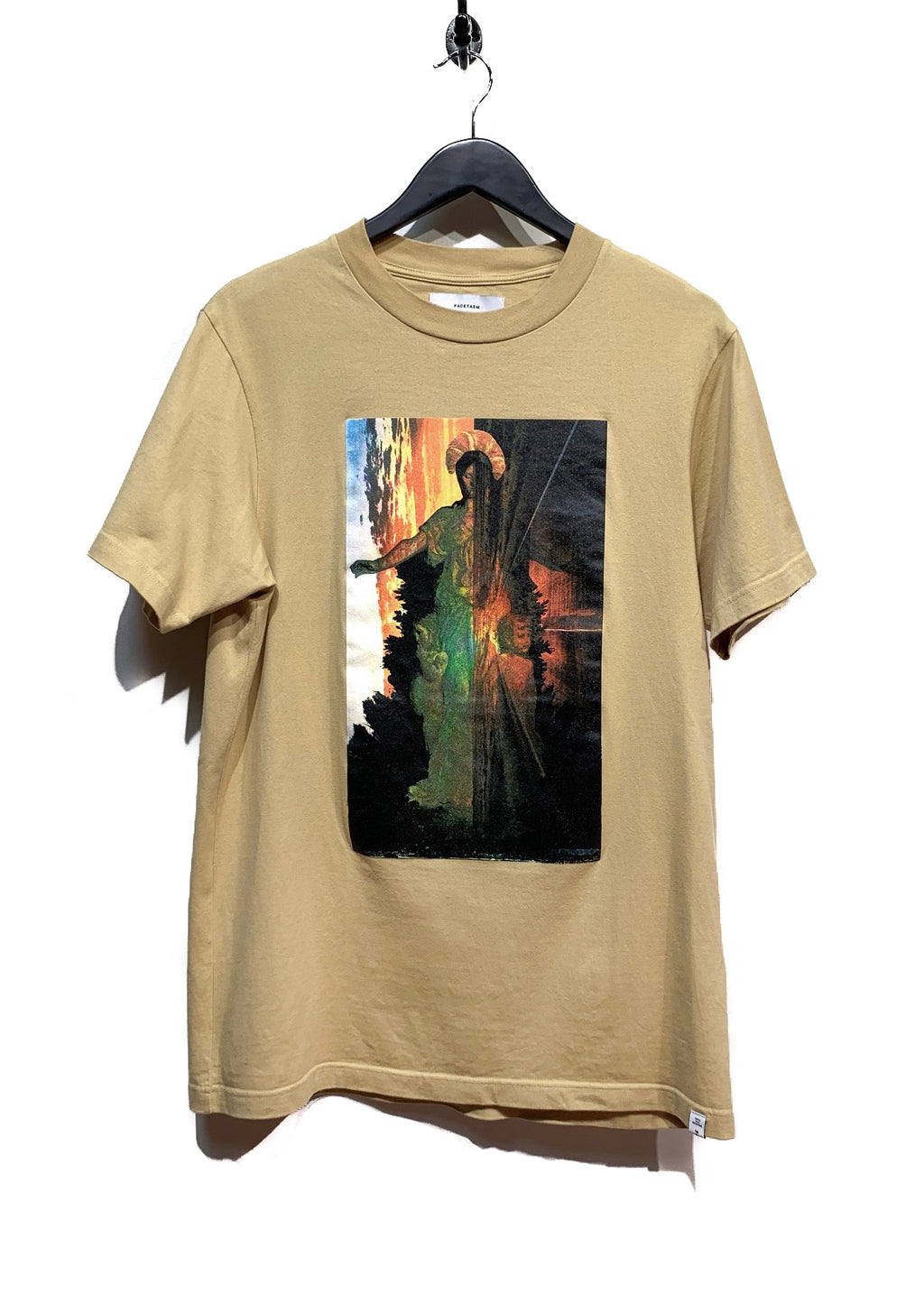 "Facetasm Yellow ""Gross Face Mutation"" Collection Print T-shirt"