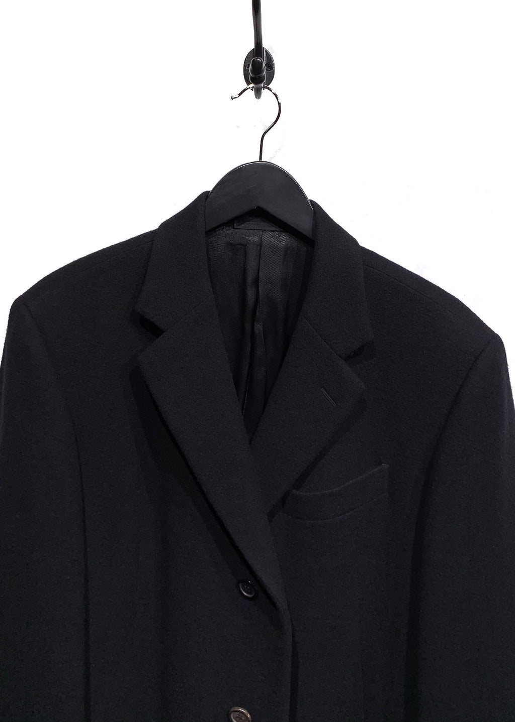Prada Black Classic Wool Top Coat
