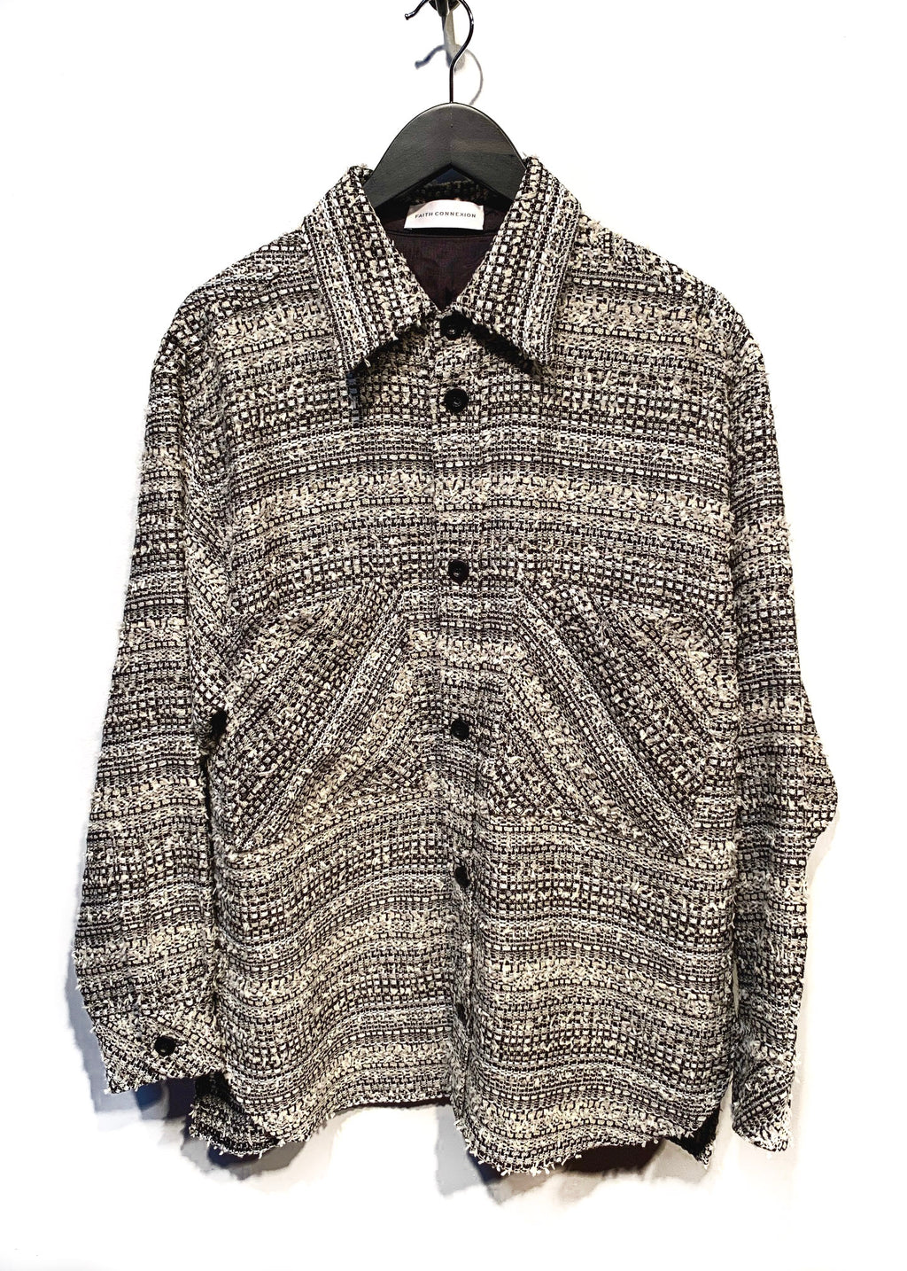 Faith Connexion Oversized Tweed Shirt