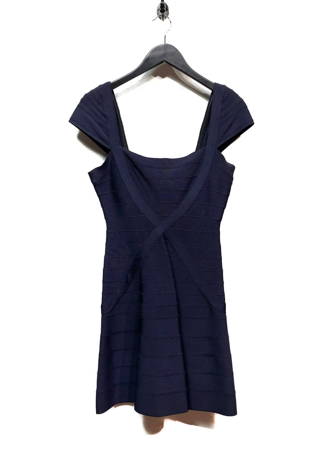 Hervé Léger Pacific Blue Navy Makayla Bandage Dress