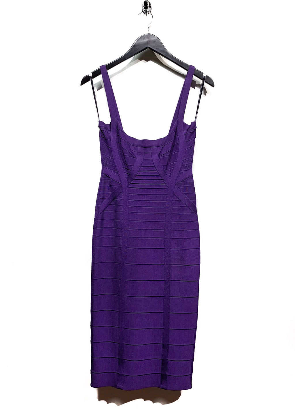 Hervé Léger Purple Plum Berry Judith Bandage Dress