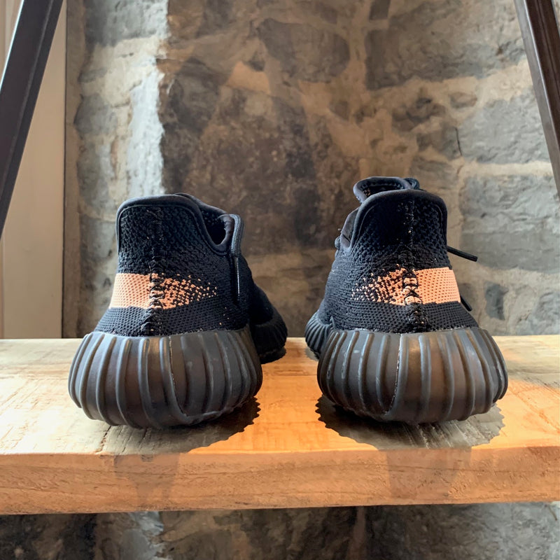 Adidas Yeezy Boost 350 V2 Core Black Copper Stripe Sneakers