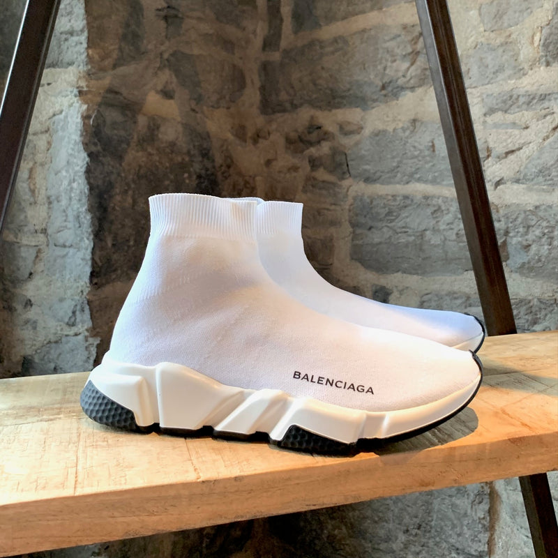Balenciaga White Speed 2.0 Sock Sneakers