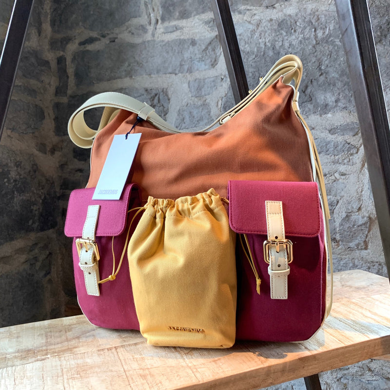 Jacquemus Le Iba Colorblock Pocketed Hobo Bag