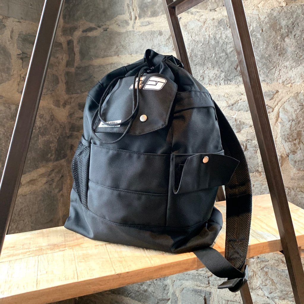 Ader Error SSENSE Cycling Club Black Utility Drawstring Crossbody Bag