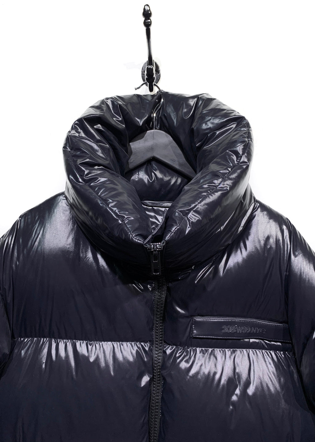 Calvin Klein 205W39NYC Navy Oversized Down Puffer Cape Coat