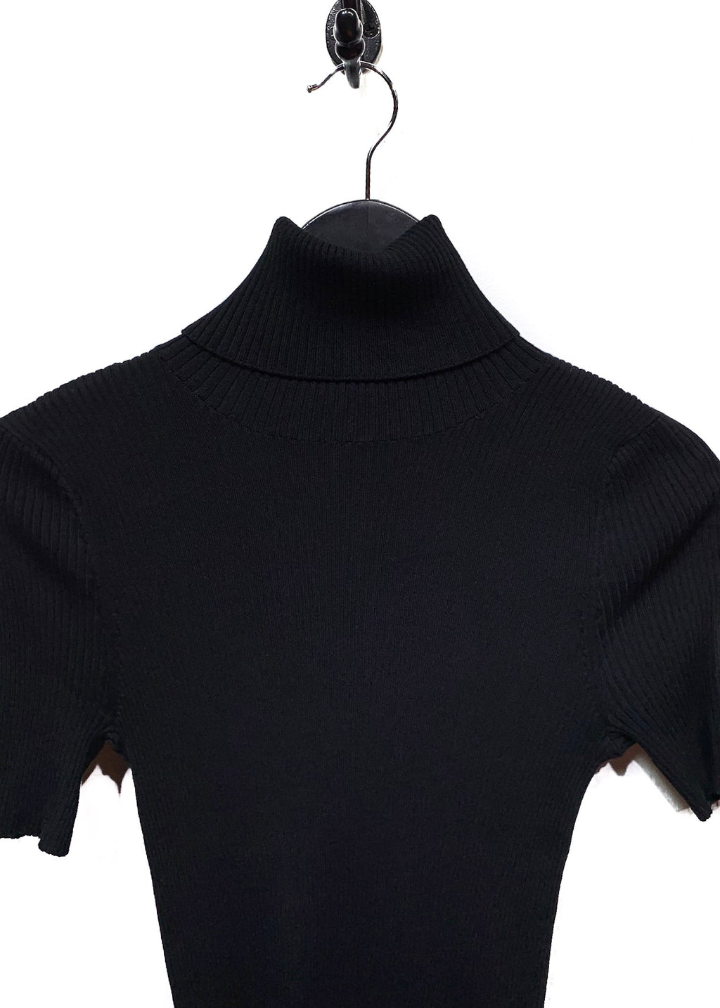 Alexander Wang Black Zipper Turtleneck Sweater