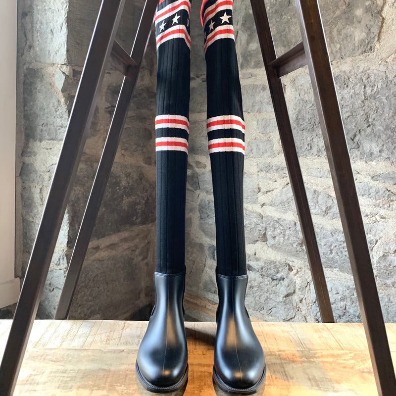 Givenchy Storm Over The Knee Star Sock Boots
