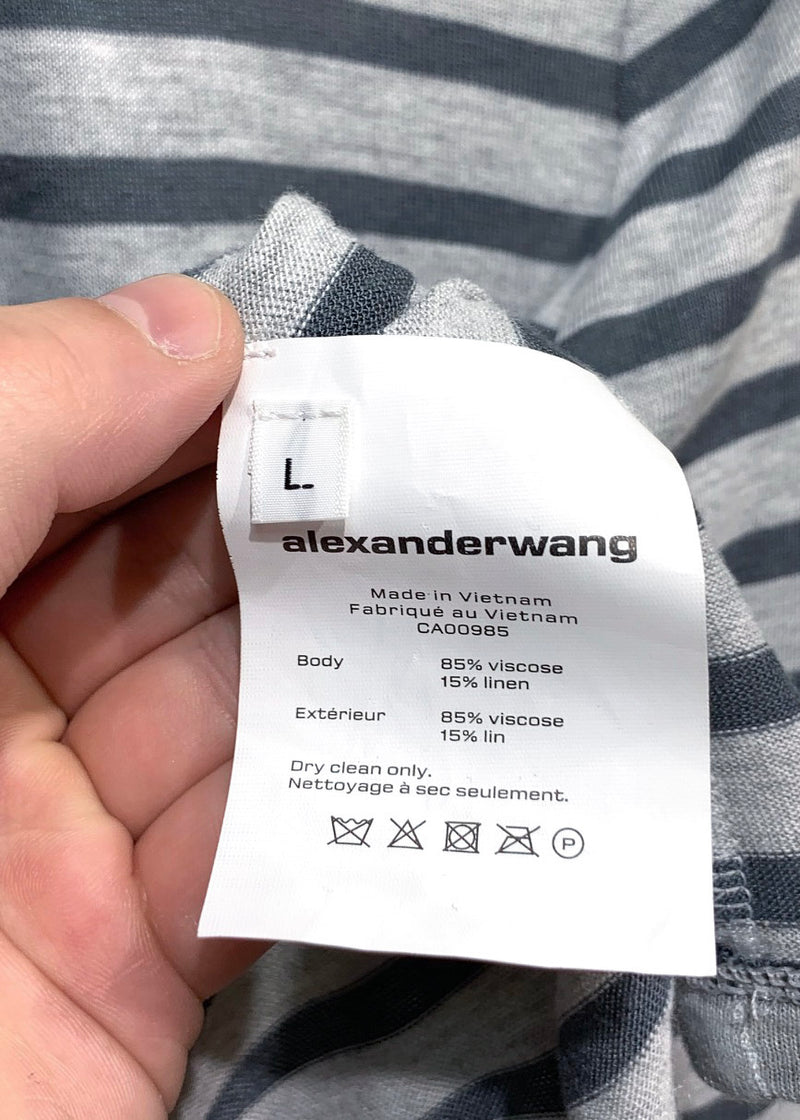 Alexander Wang alexanderwang.t Grey Striped Sweater