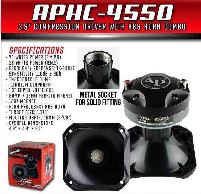 Driver Audiopipe APHC-4550 - Voceteo Outlet
