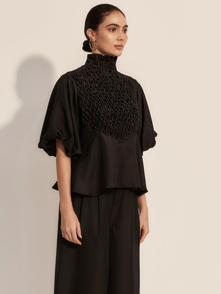 The Couru Blouse - Moonless